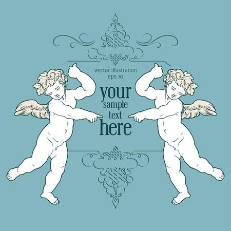 angels greeting card