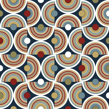 repeat square: abstract geometric mosaic background with circle