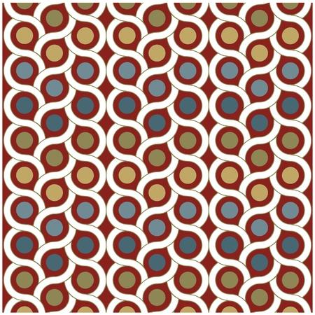 vector achtergrond patroon met stippen en een cirkel Vector Illustratie