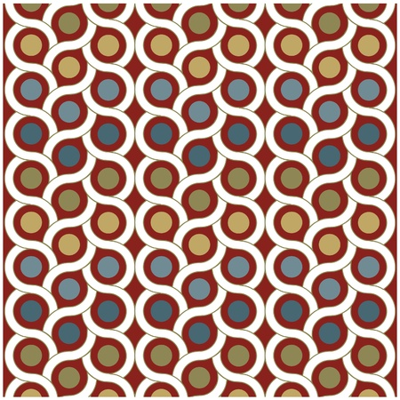 grid paper: vector background pattern with dots and circle Illustration