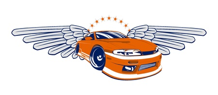 car tuning: racing car icon