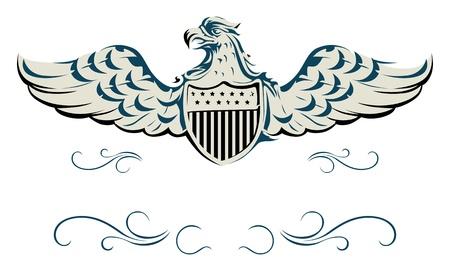 shield wings: vector eagle shield Illustration