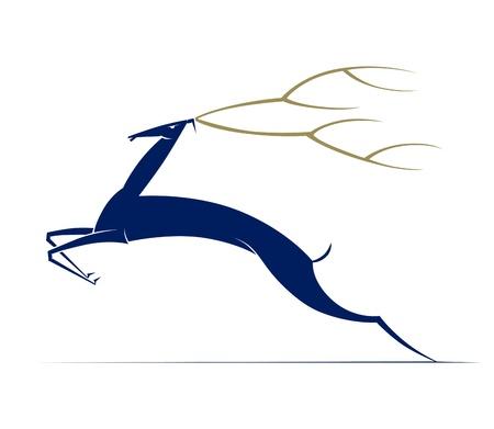 deers: Caricatura de Navidad ciervos. Ilustraci�n vectorial