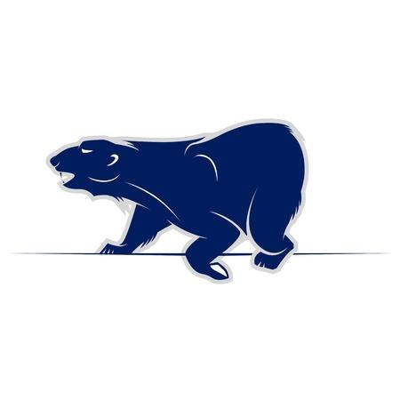 antarctic: wild bear walking icon