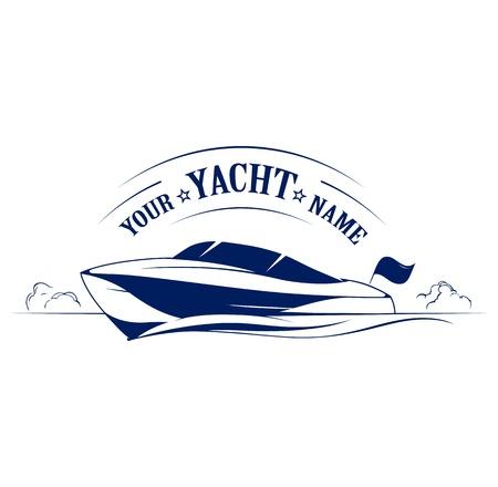 bateau: ic�ne yacht vitesse du bateau Illustration