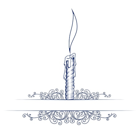 wax candle note template with retro pattern Stock Vector - 12074453