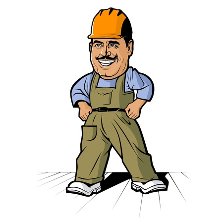 repairman: Cartoon builder man