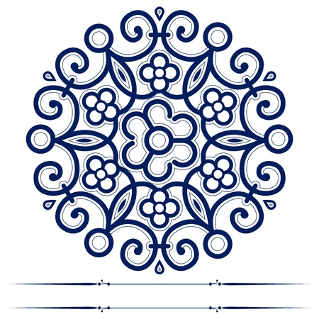 crochet: round lace ornate background  Illustration