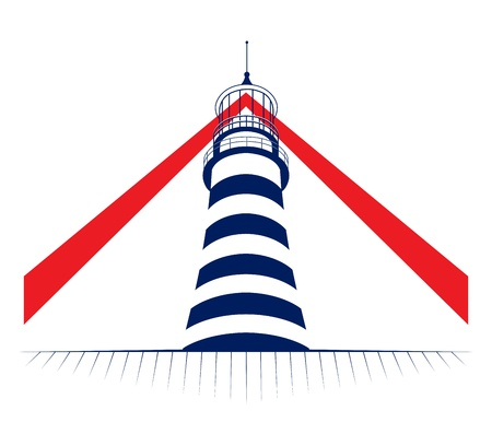 lamp of lighthouse tower icon  Stock Vector - 12788192