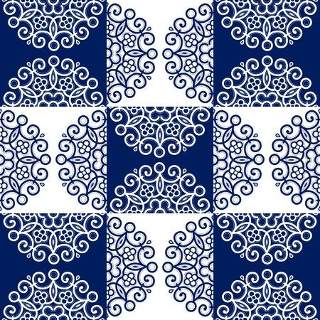 round lace ornate background pattern