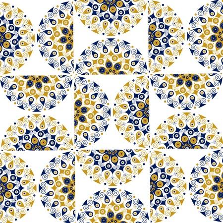 star round ornate background pattern
