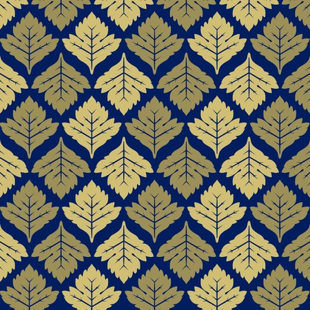 maple leaves background in vector Illustration