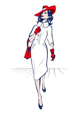 shopping stylish woman Vector