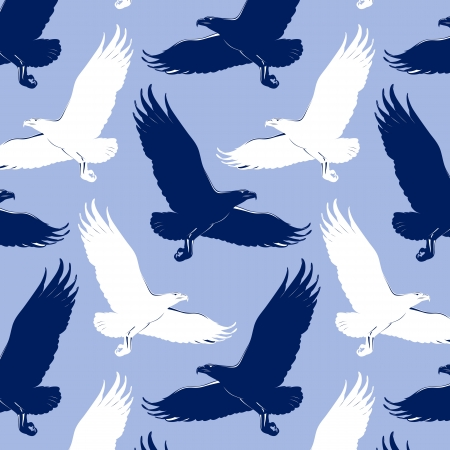 cartoon eagle background Vector