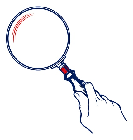 Hands with Magnifier  Vector