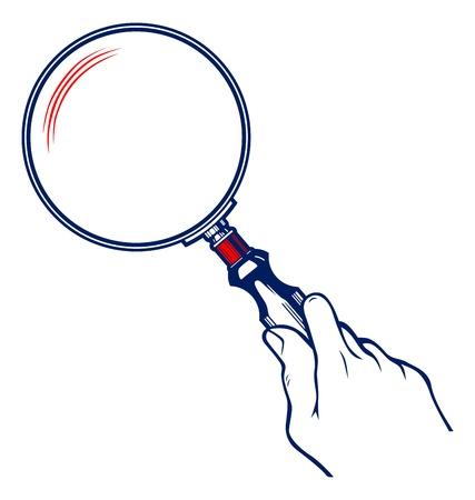 reading glass: Manos con lupa