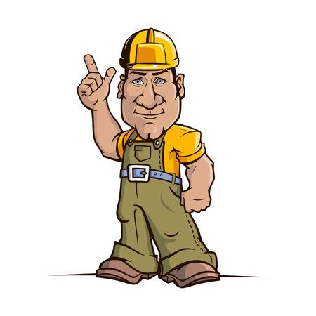 Cute cartoon handyman illustration  100  Editable vector  EPS 8 0 Vector