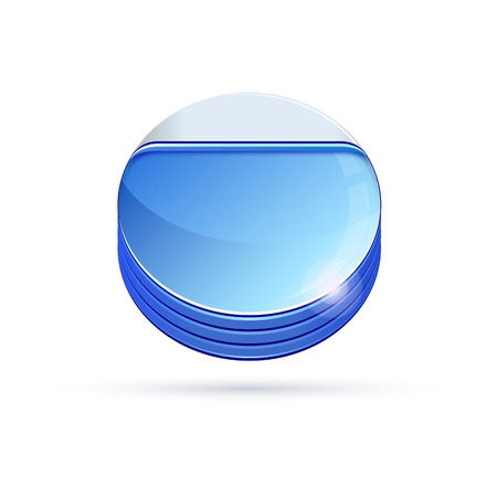 glass reflection: Glass icon Vector illustration. Eps10