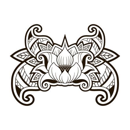 vector illustration: Lotus Tattoo vector illustration. EPS 10