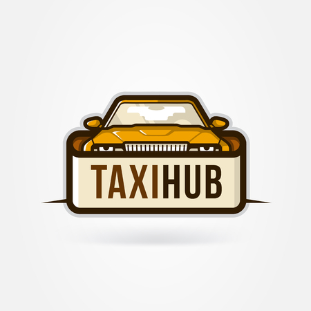 fully editable: Taxi Hub icon. Vector Fully editable file