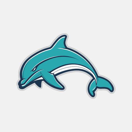 Dolphin Cartoon. Fully Editable Vector Illustration