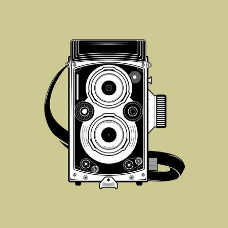 Vector retro camera. Easy to edit. EPS 10.