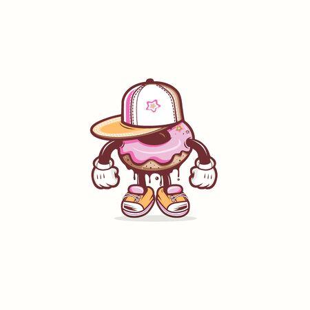 Urban DONUT mascot Stock fotó - 132022468