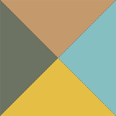 multicolored: Multi-colored envelope in blue, grey, yellow and brown colors
