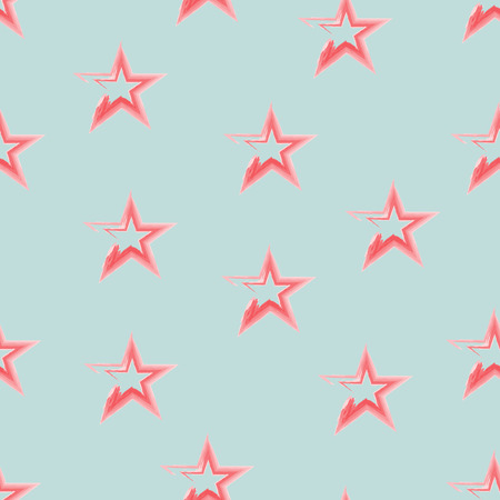 war decoration: Four seamless pattern with stars in American flag colors
