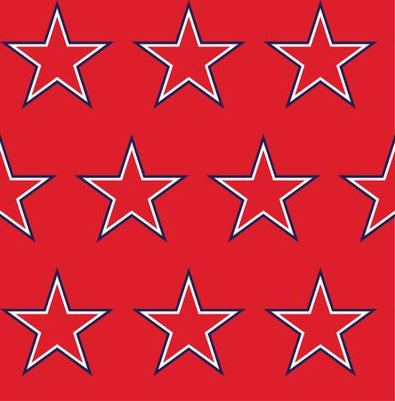 estrellas cinco puntas: Cuatro sin patrón, con las estrellas en colores de la bandera americana