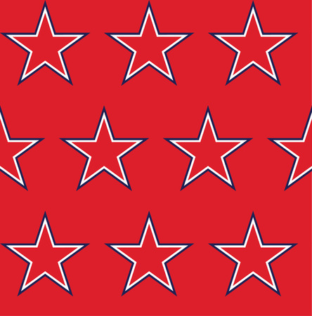 national hero: Four seamless pattern with stars in American flag colors