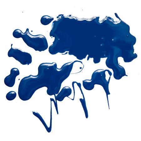 emulsion: Nail polish spot isolated on the white background