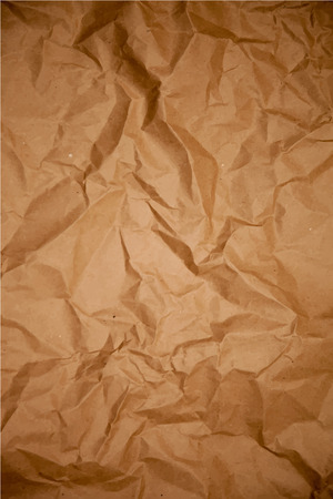 Crumpled dark wrapping paper texture, vector background Illustration
