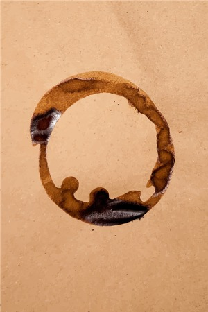 brown paper: Brown paper sheet texture with coffee stain