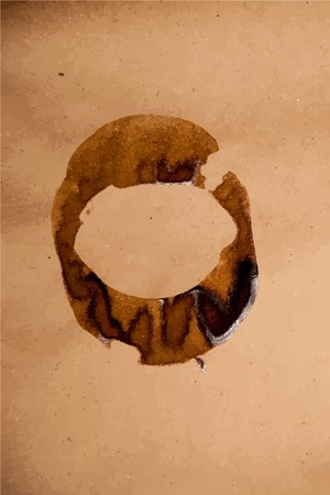 coffee spill: Brown paper sheet texture with coffee stain