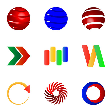 Set of different Business Abstract Colorful logo icons