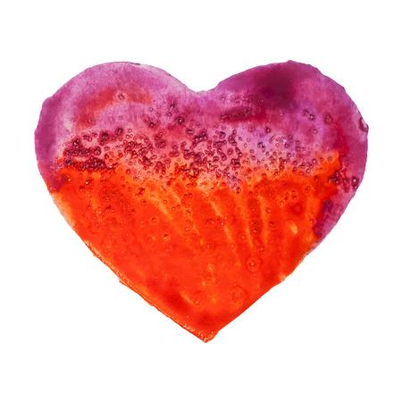 Hand drawn watercolor heart