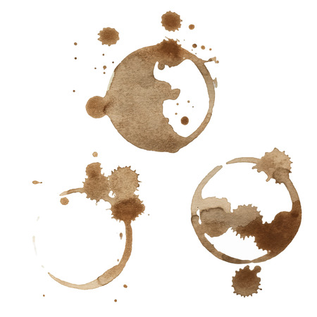 spill: Coffee Stain Rings Set of three Vector illustration Illustration