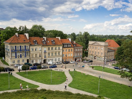 Warsaw, Poland - July, 2017: Historical street of the old city in Warsaw Editorial