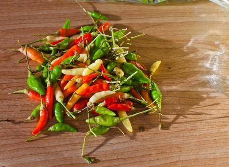 chiles picantes: chiles en el mercado