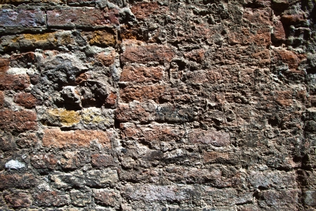 texture of an old brick wall photo