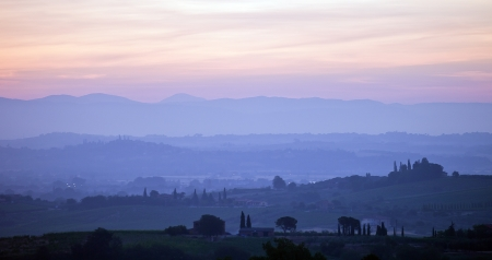 Tuscany in the early morning photo