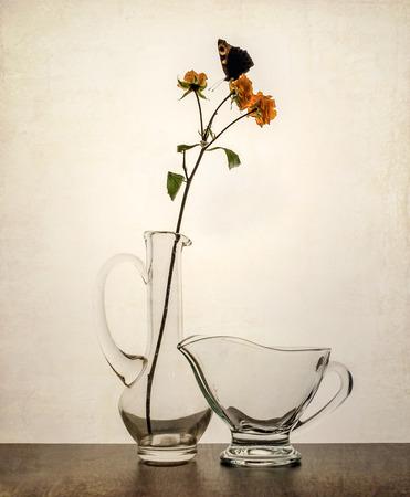 milkman: Still life, butterfly, flower,