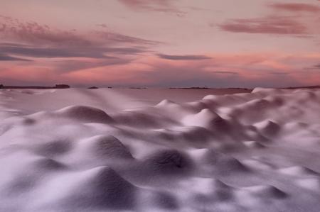 vastness: snowdrifts  beautiful shade from snowdrift Stock Photo