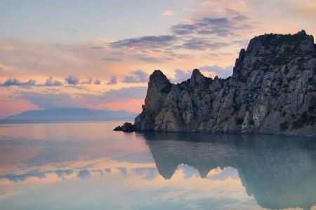 Reflexion des Berges