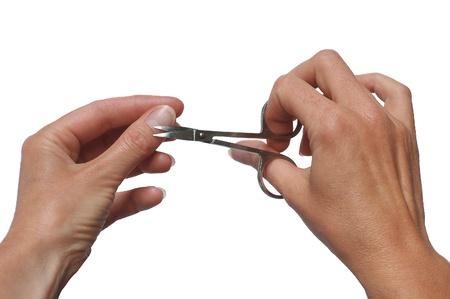 metallic scissors cuting of nail  manicure Stock Photo - 17148706