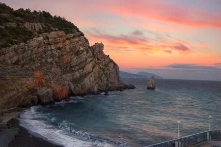 sunrise over the warm sea