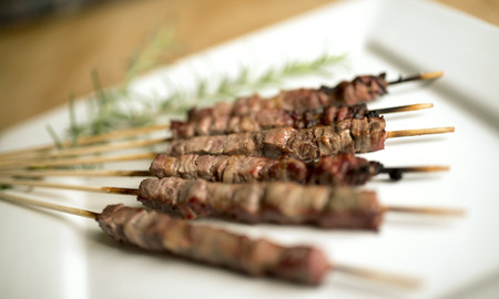Arrosticini, a typical italian small skewers