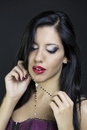 nimbus: girl angel with cross necklace