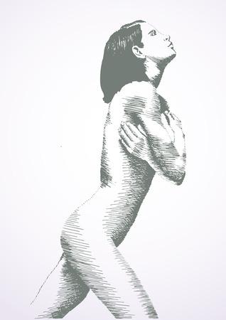 sketch of beautiful woman beauty